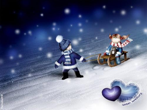мари.  Зимняя сказка, скоро Новый год.