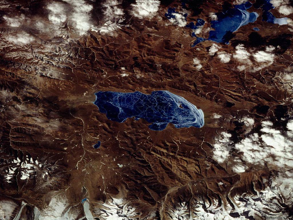 конкретный пример картинки которые видны из космоса непременно