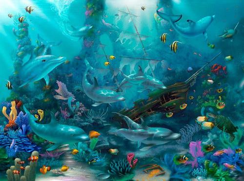 Симпатичные рисунки на подводную тему