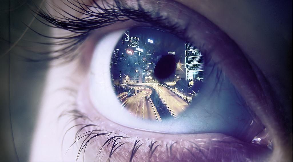 картинка отражение глаз включить