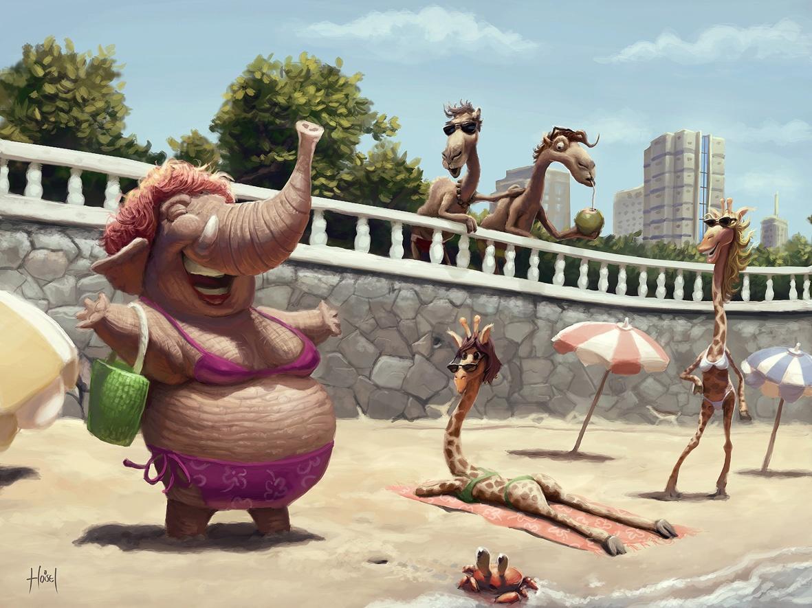 Очень смешные картинки про лето