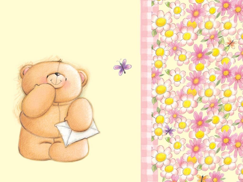 Рисунки для открыток с медвежатами