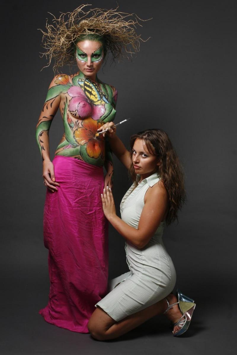 Боди арт рисунки работа девушке моделью дмитриев