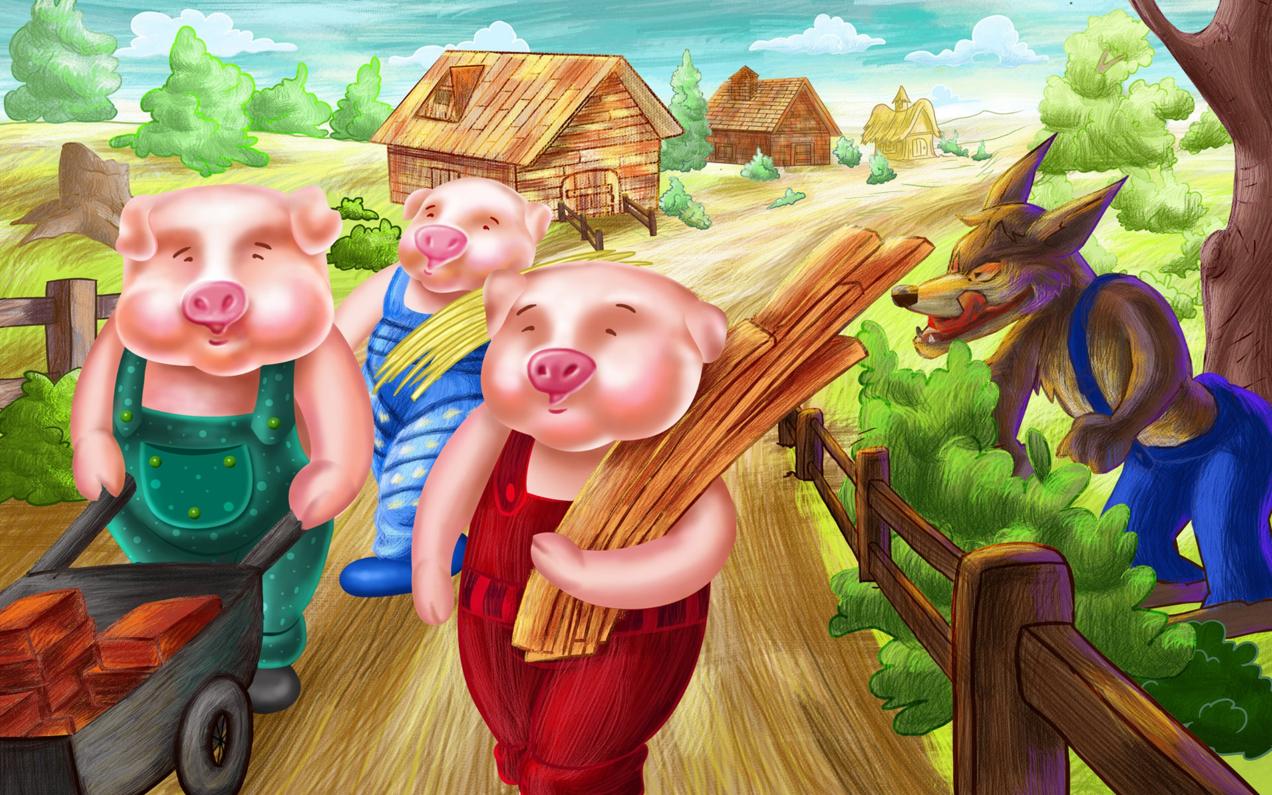 The Three Little Pigs is a favorite from the Childrens Library Our stories nursery rhymes fables and fairytales make great bedtime stories too!