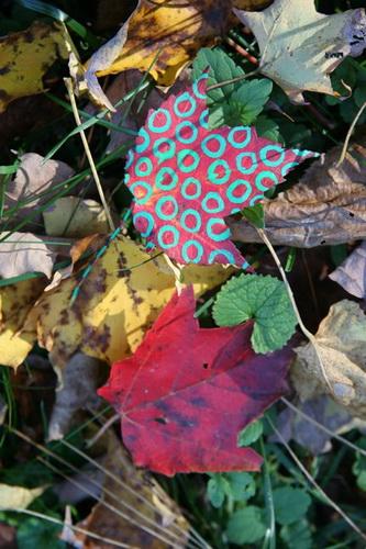 Рисунки на листьях и камнях фото 24