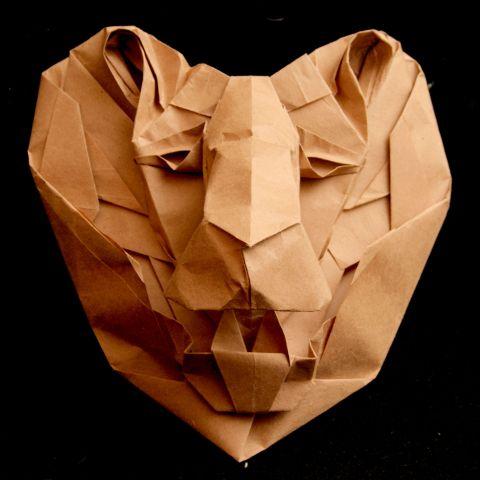 новогодние поделки из оригами.