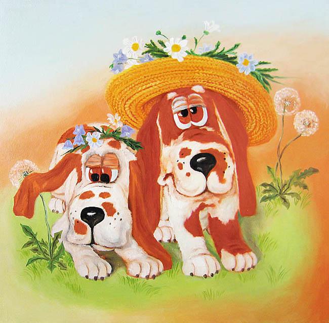 Собака прикольные открытки